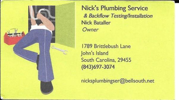 Nick's Plumbing