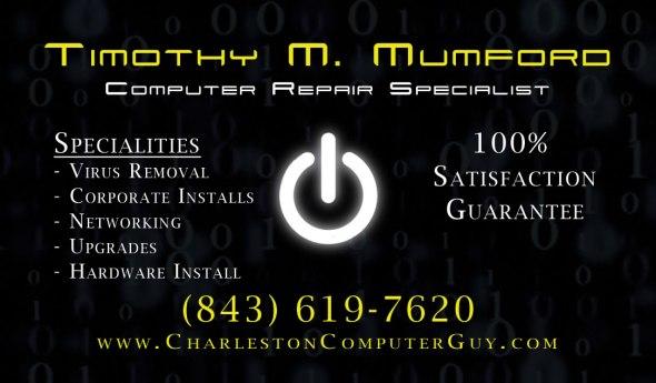 Tim Mumford's business card